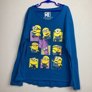 Despicable Me Minion Made T-shirt Youth XL 14-16